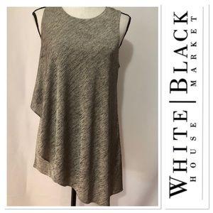 White House Black Market gray asymmetrical top